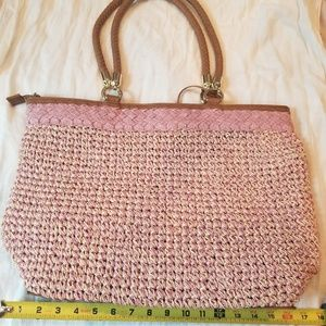 Giani Bernini straw big carry bag $28